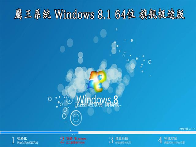 【鹰王系统】 Windows 8.1 64位 专业版(极速版)
